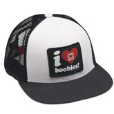 I Love Boobies Trucker (White)