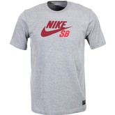 SB Icon S/S Tee (Dark Grey Heather/Team Red)