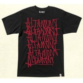 Repeated Basic S/S Tee (Black/Red)