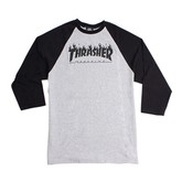 Flame Logo Raglan (Grey/Black)