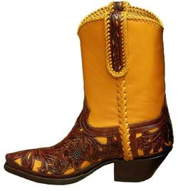 Women's Flore Chale Pee Wee Boot (Yellow/Brown)