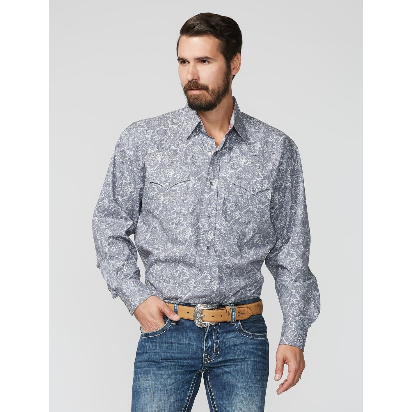 Classic Snap Front Western Shirt