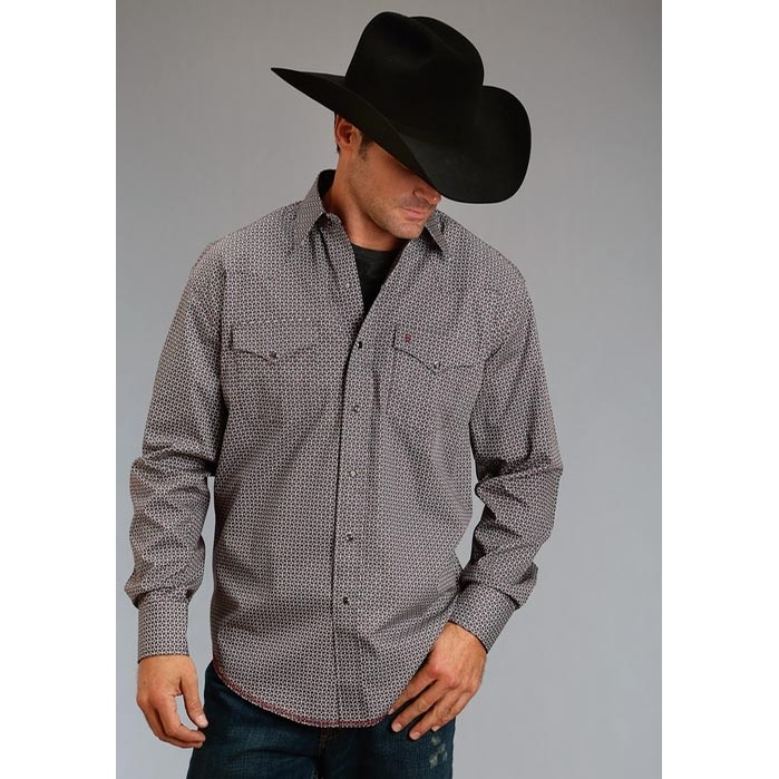 Western Snap Shirt in Mitre Geo