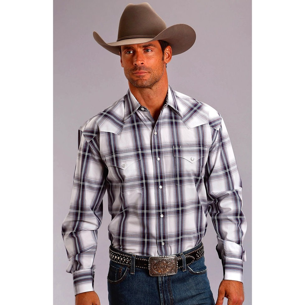 Western Snap Shirt in Plaid
