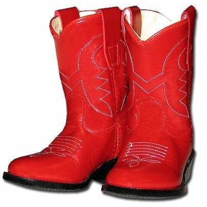 Jama Kid's Cowboy Boots (Red)