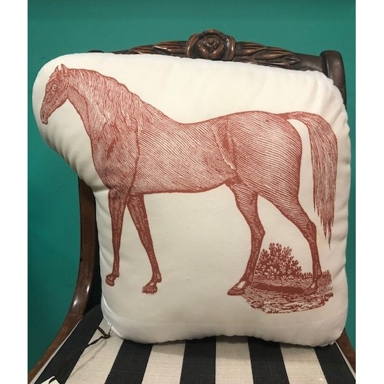 Red Horse Canvas Pillow