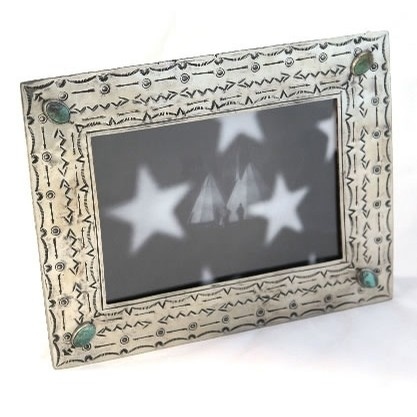 5x7 Stamped Silver Frame