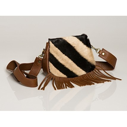 Mini Fringe Zebra Satchel