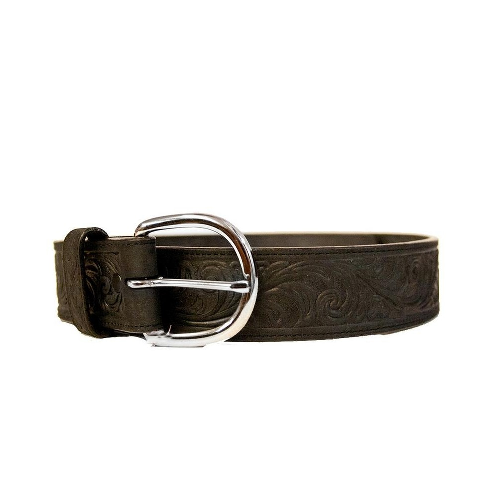 Brighton Western Scroll Belts (Black)