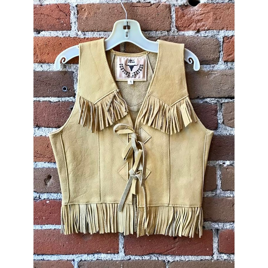 Kids Buckskin Leather Vest