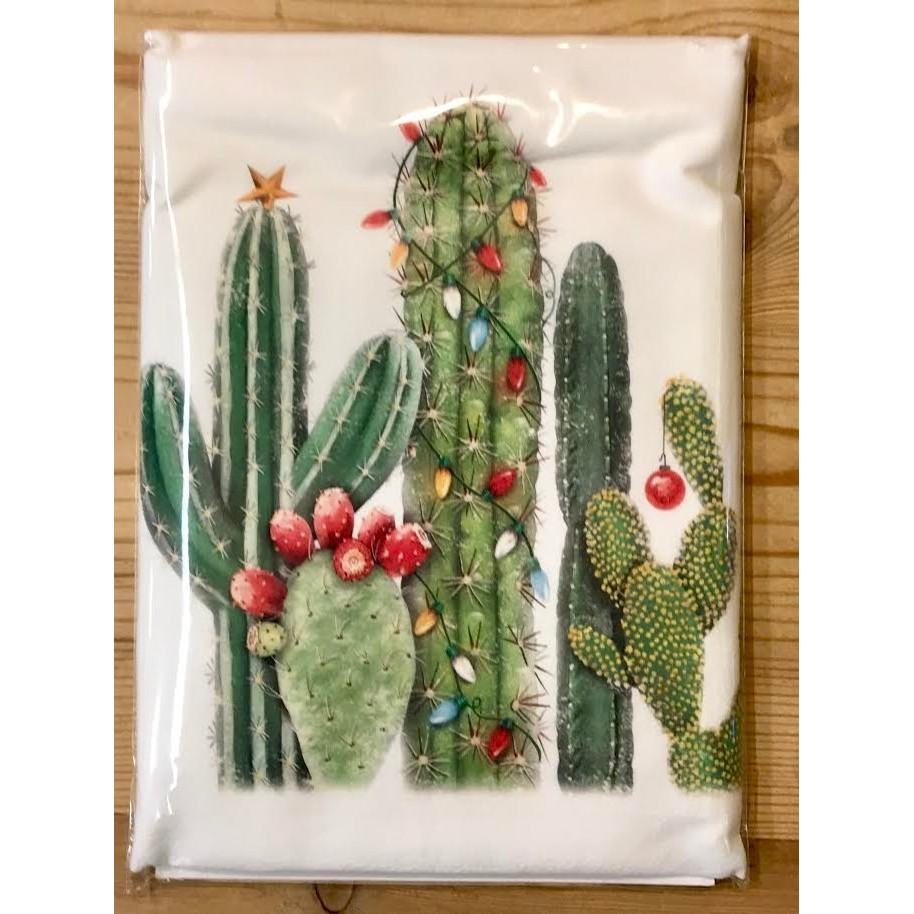 Cactus With Lights Towel