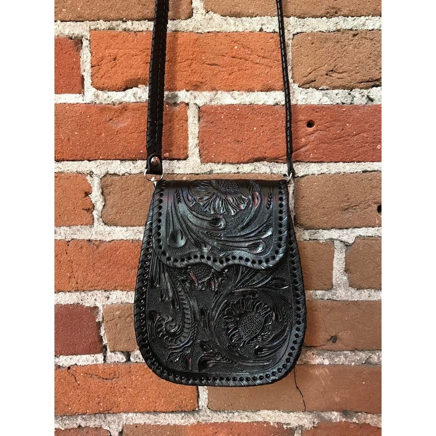 Chiquita Tooled Crossbody Purse (3 Color Options)