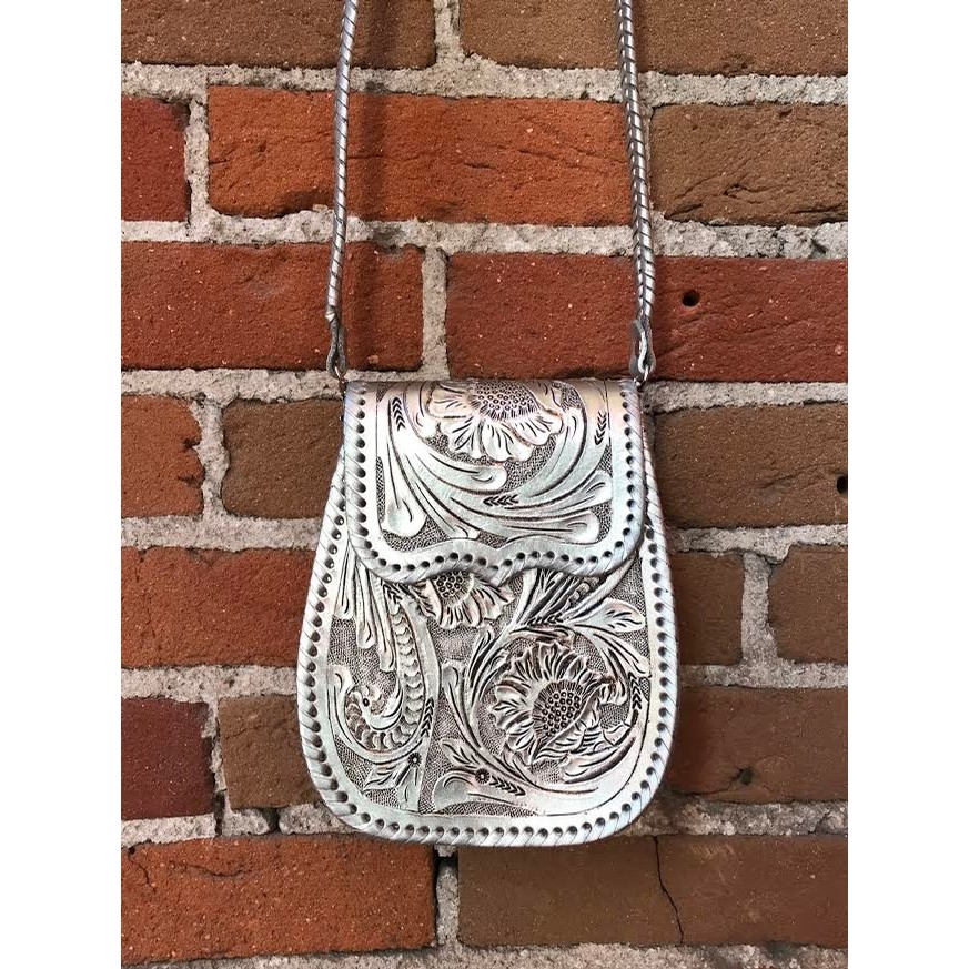Que Chula Collection - Chiquita Tooled Crossbody Purse (3 Color Options)