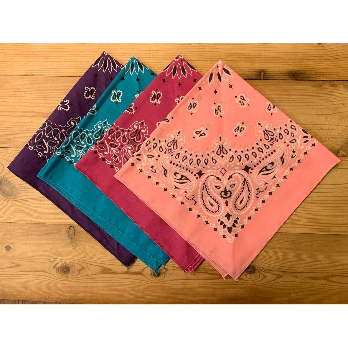 Cotton Bandana Scarf (Mulitple Colors)