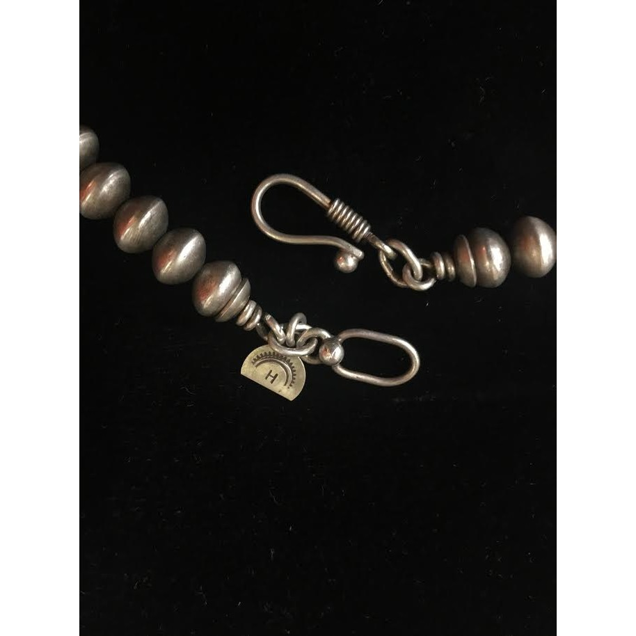 Dennis Hogan Sterling Beads with Cross Necklace