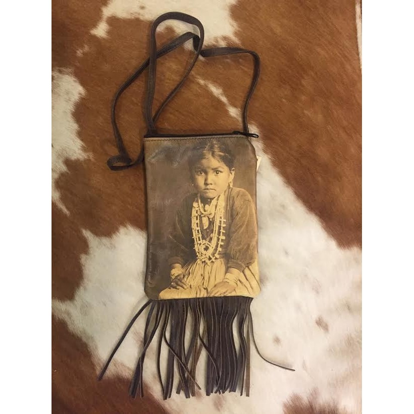 Navajo Girl Crossbody Bag with Fringe