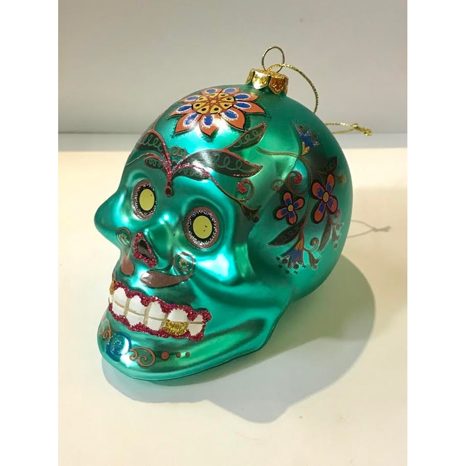 Day of the Dead Skull Ornament (2 Colors)