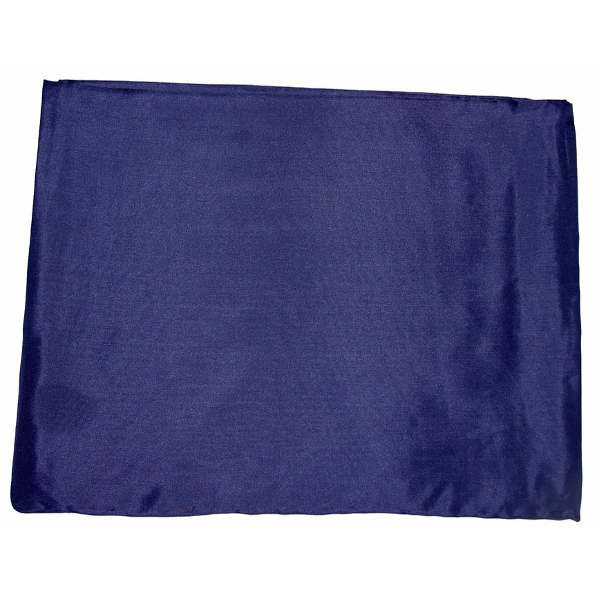 Solid Silk Scarf (Navy)