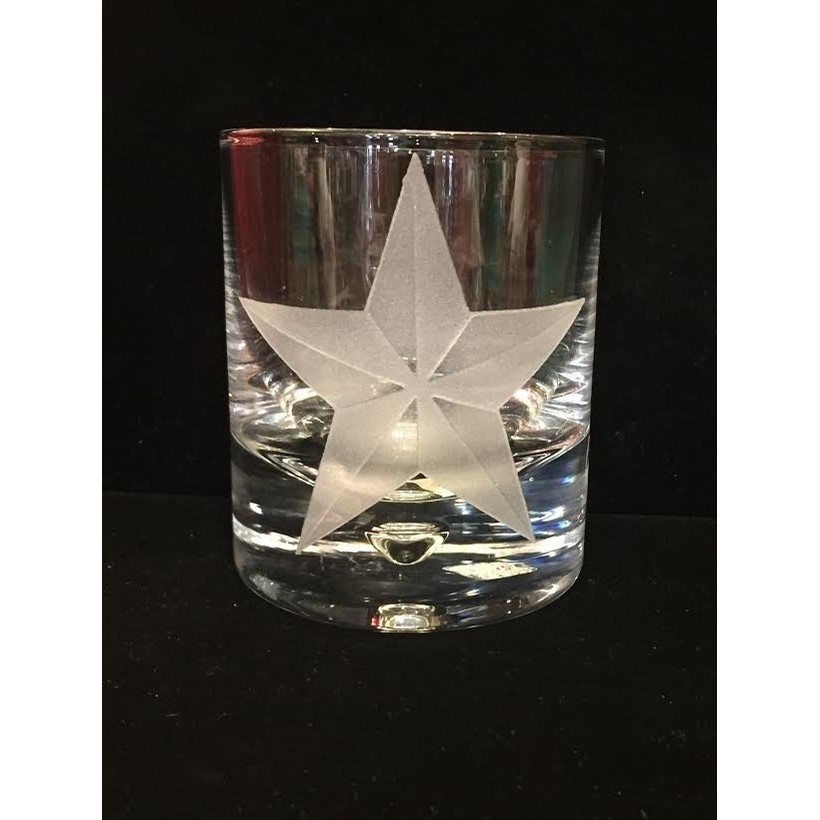 Texas Star Rocks Glass (Crystal)