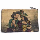 Found Images Coin Purse- Cowboy and Indian Woman