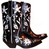 Liberty Women's 60's Cowgirl 10 Inch Boot (Black/White)