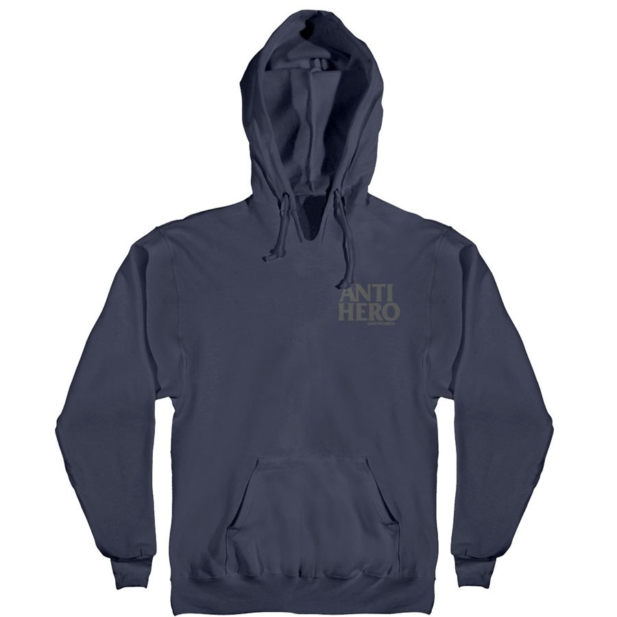 Lil Black Hero Embroidered Hoodie | Slate Blue/Grey