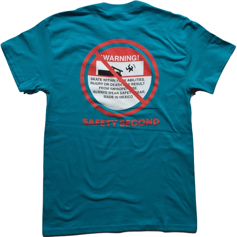 Safety Second T-Shirt | Tropical Blue