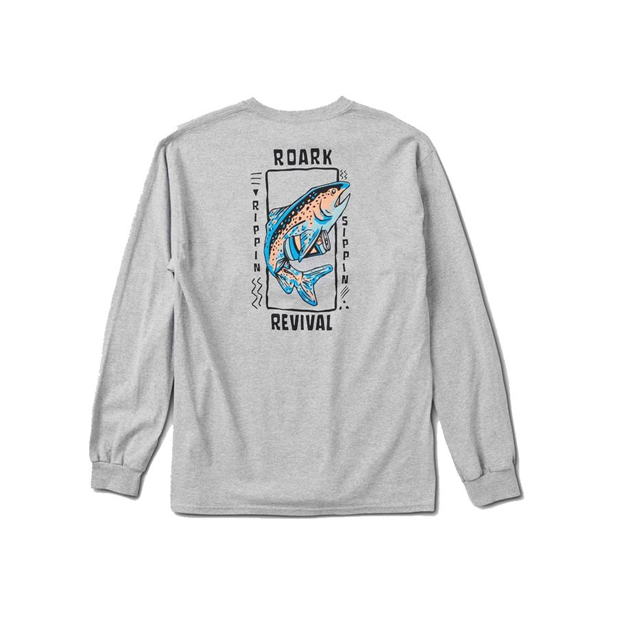 Trippin and Sippin L/S Staple Tee | Grey Heather