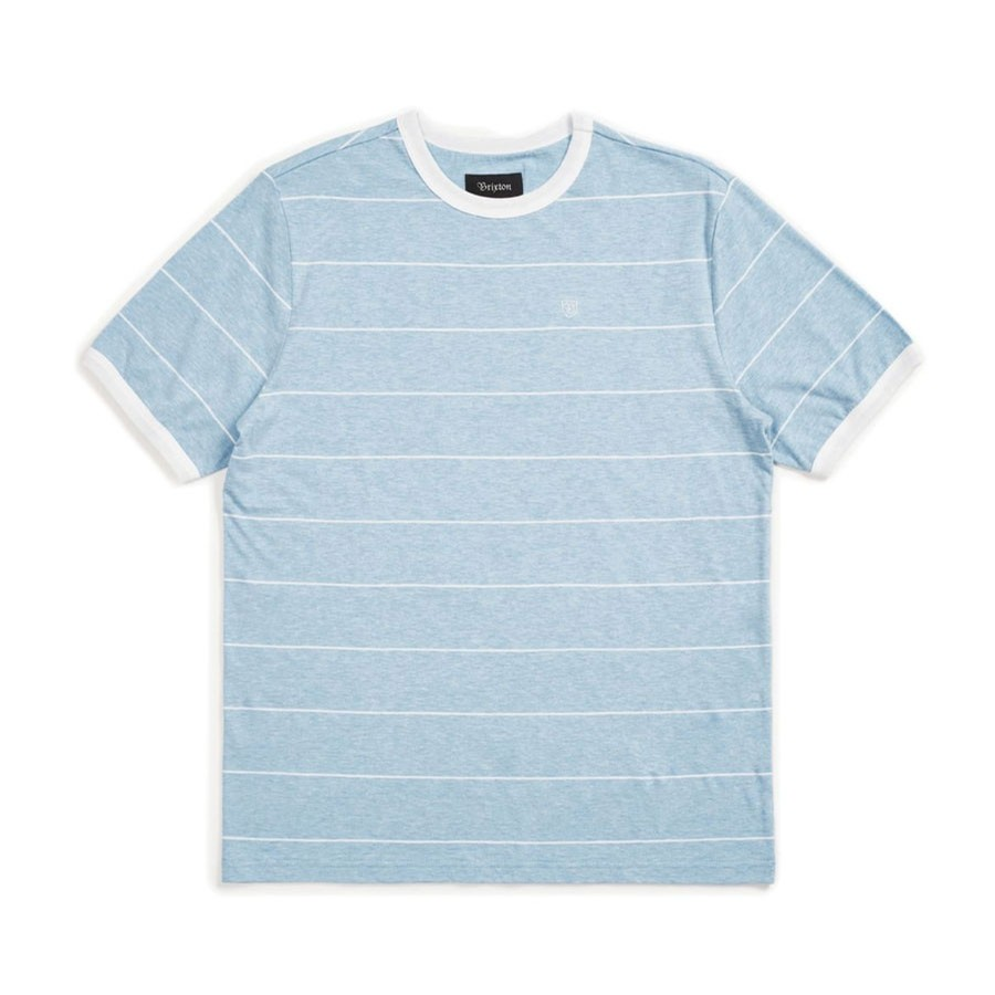 B-Shield S/S Knit | Light Blue/White