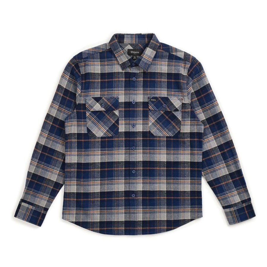 Bowery Flannel L/S Shirt | Blue Night
