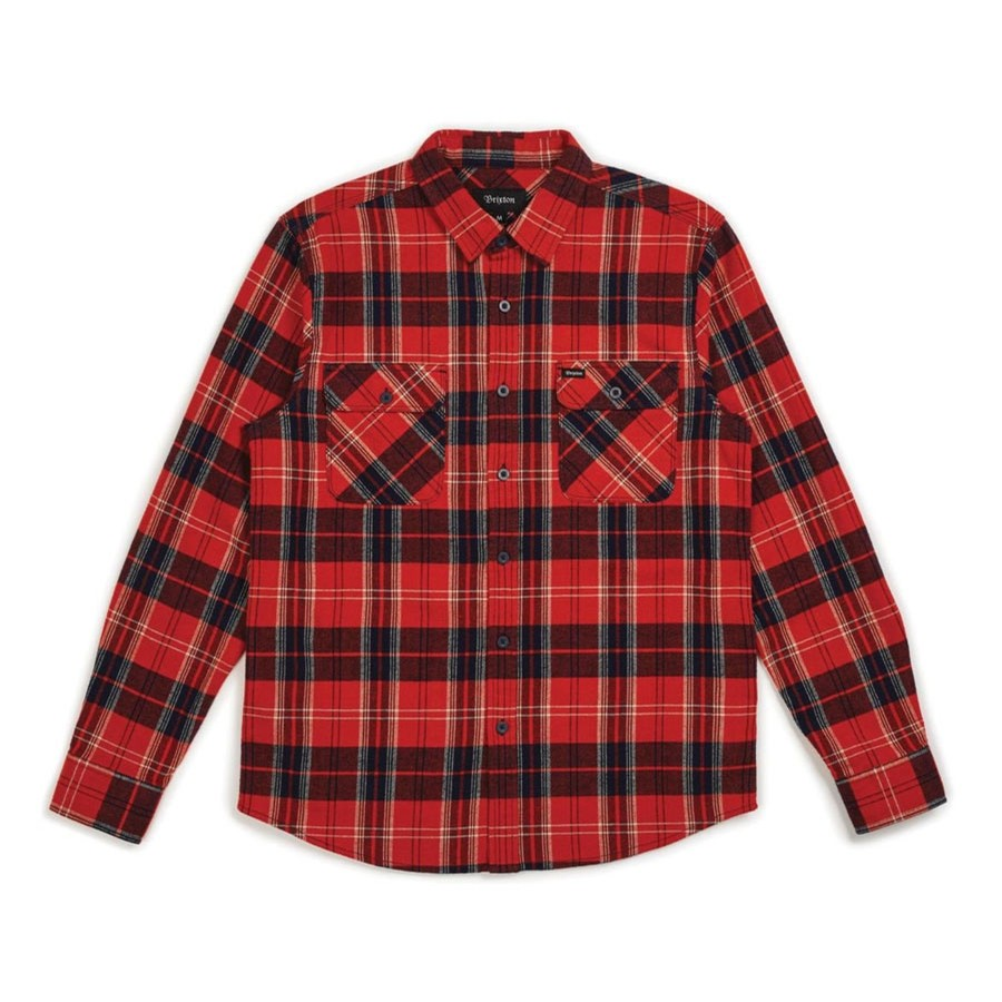 Bowery L/S Flannel | Red/Navy