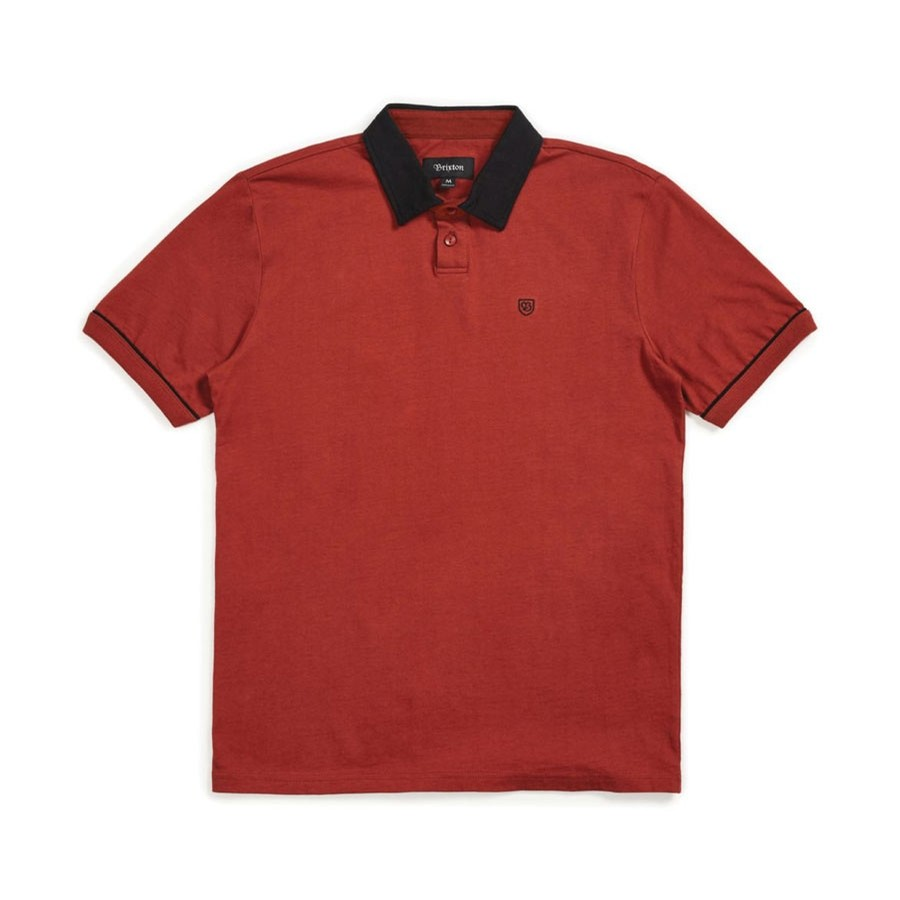 Carlos S/S Polo Knit Shirt | Brick