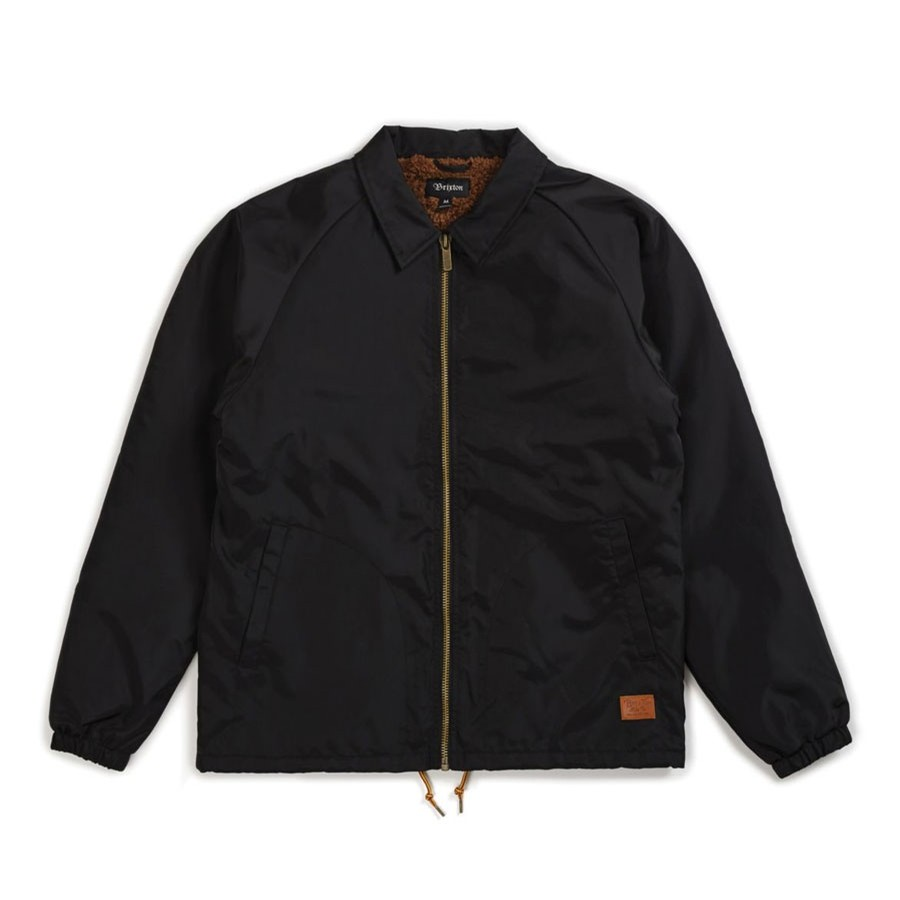 Claxton Collar Sherpa Jacket | Black