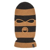 Barger Face Mask Beanie | Washed Black/Gold