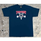 Two Tone SK8Goat T-Shirt | Navy Blue