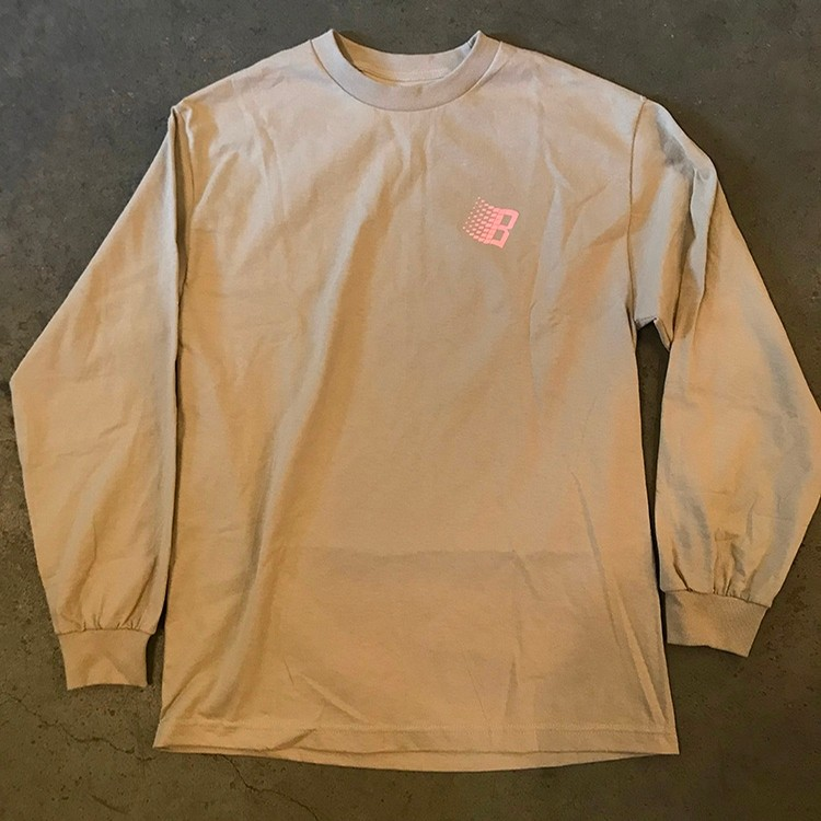 Bronze Classic Logo L/S Tee (Sand/Pink)