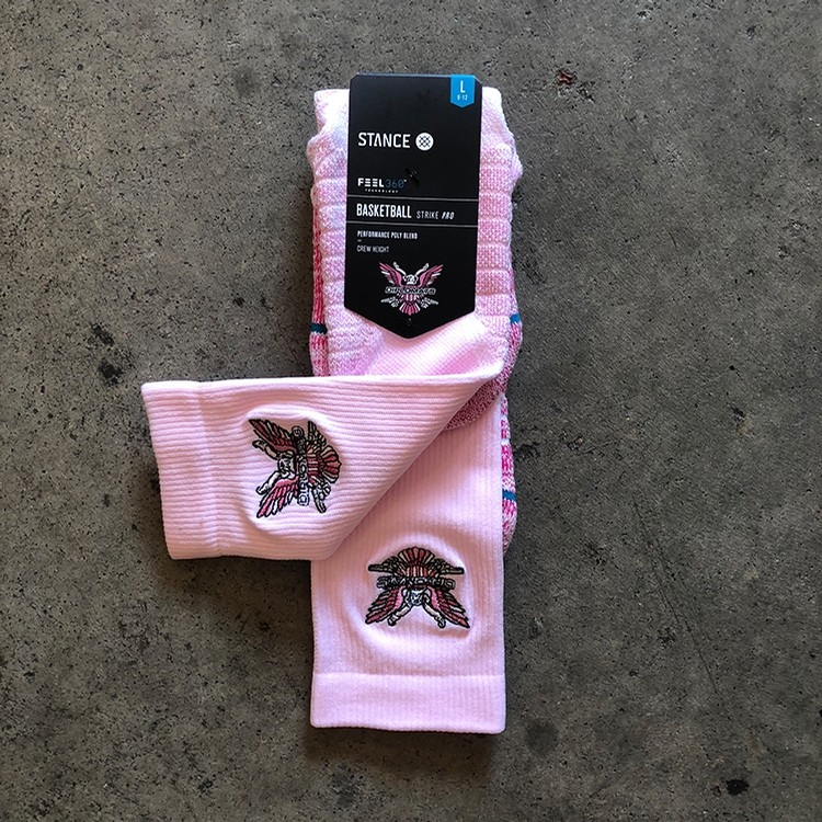 Stance Cam'ron Hoops (Pink)