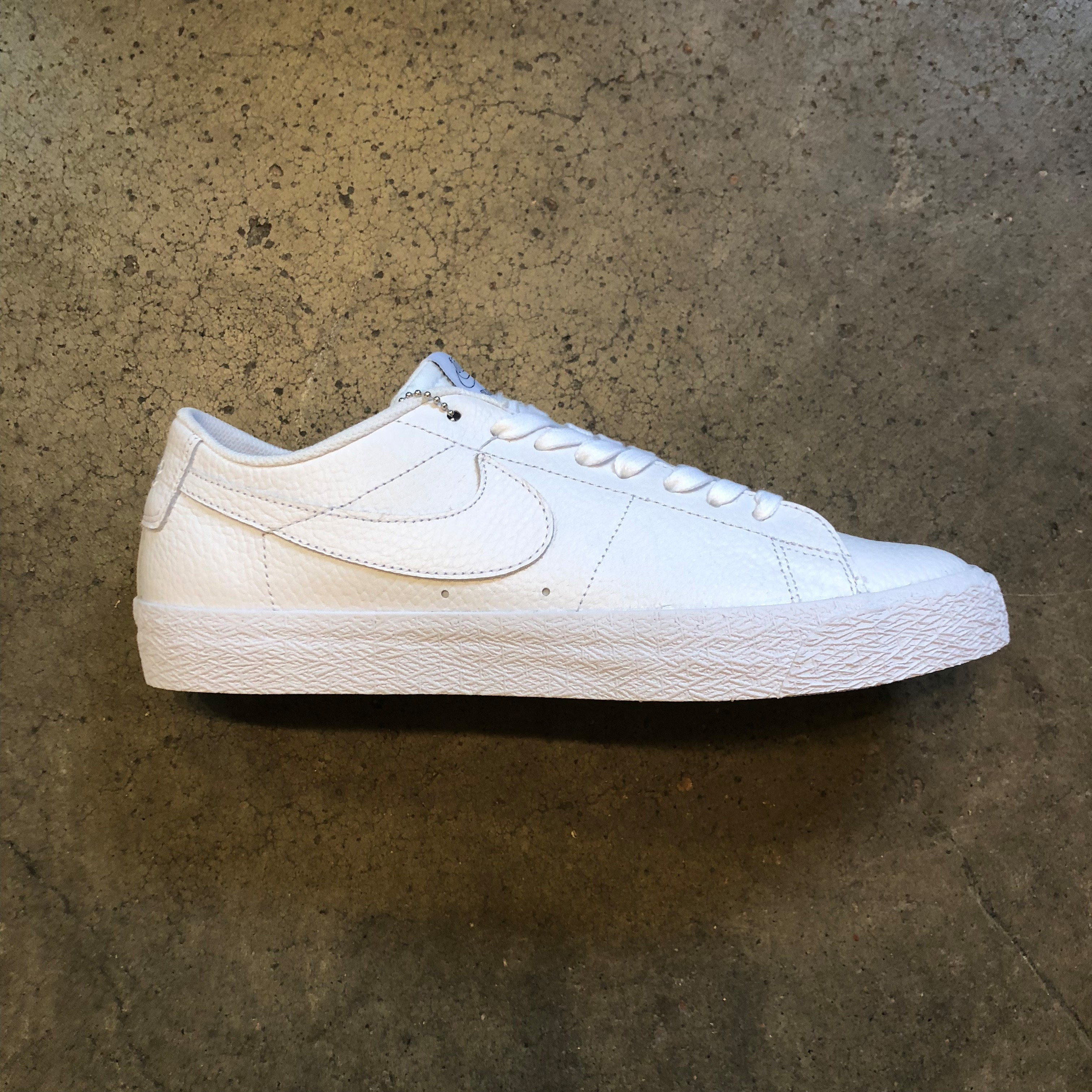 72223bf4ba7e Nike SB Blazer Low NBA (White White Rush Blue) Shoes Mens at Emage ...