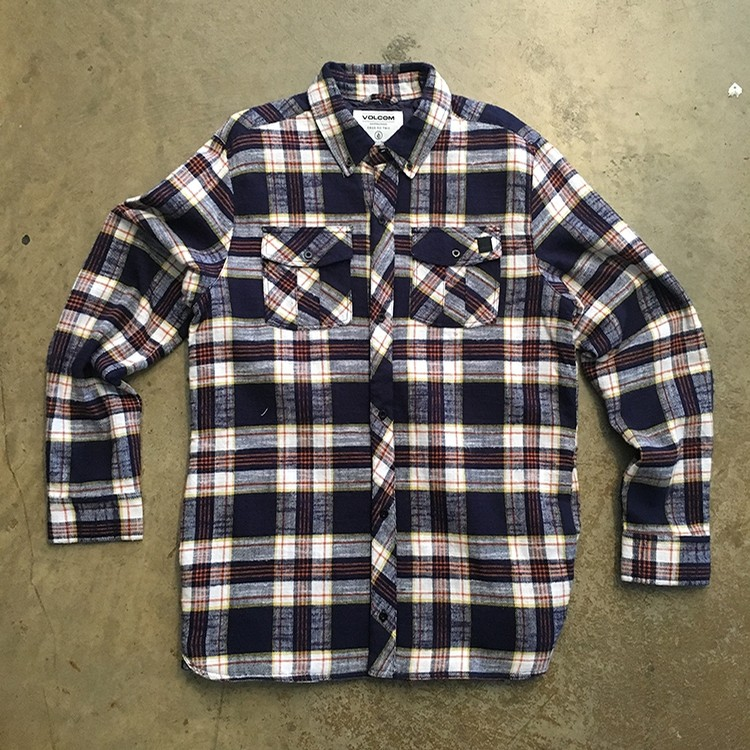 Volcom Simons Ins. Flannel Jacket (Navy)