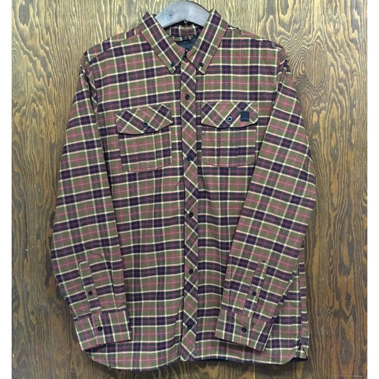 Volcom Simons Insulated Flannel Jacket (Brown)