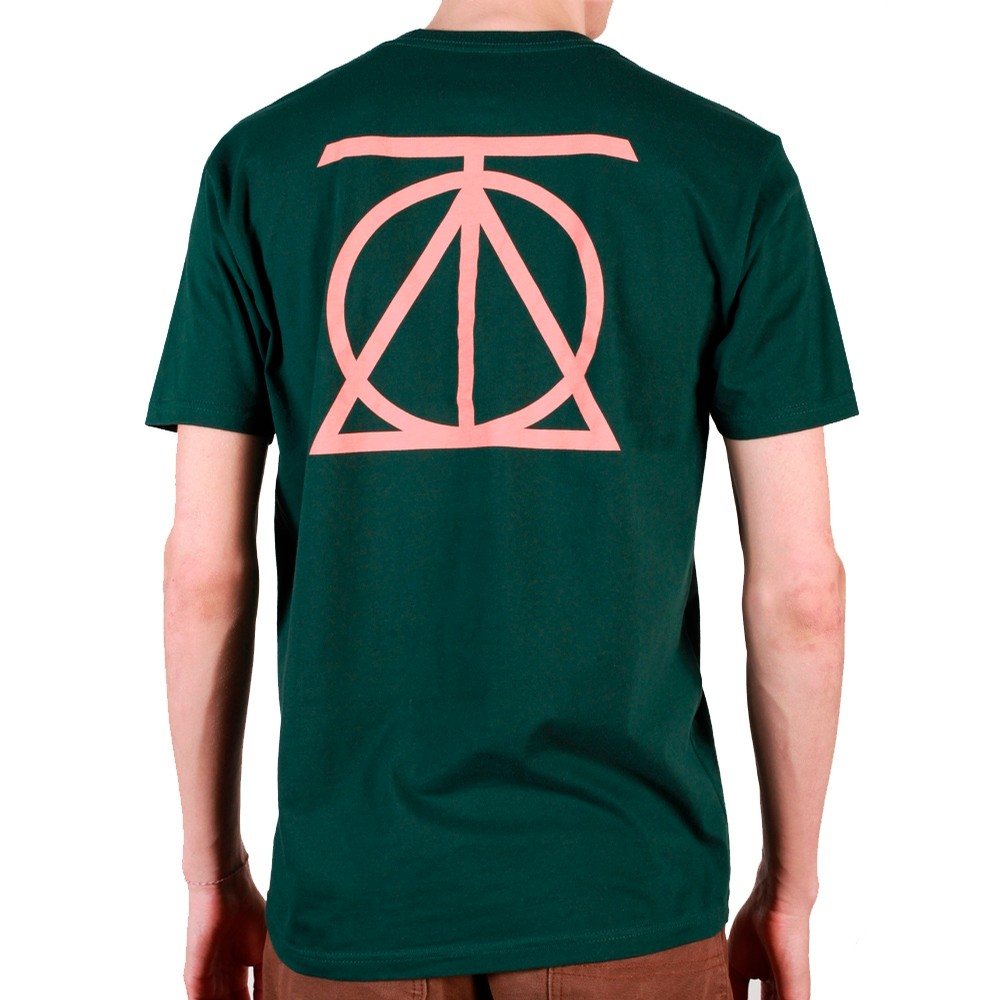 Theories Of Atlantis CREST TEE (Forest Green / Peach)