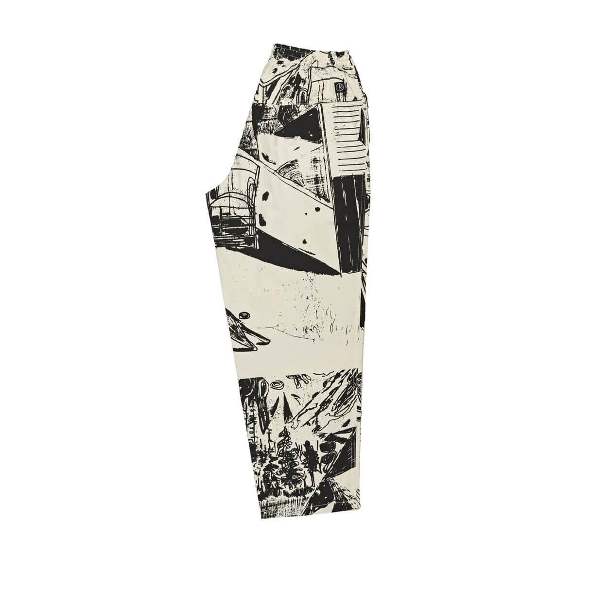 TK Surf Pants (Ecru/Black)
