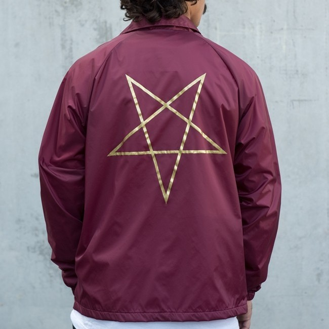 Thrasher PENTAGRAM COACH JACKET (MAROON)