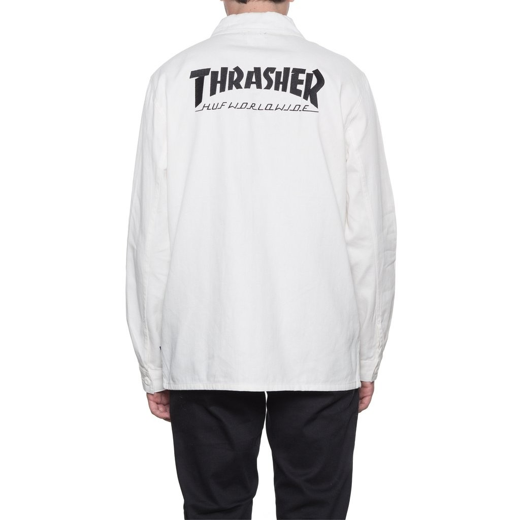 THRASHER TDS CHORE JACKET (OFF WHITE)