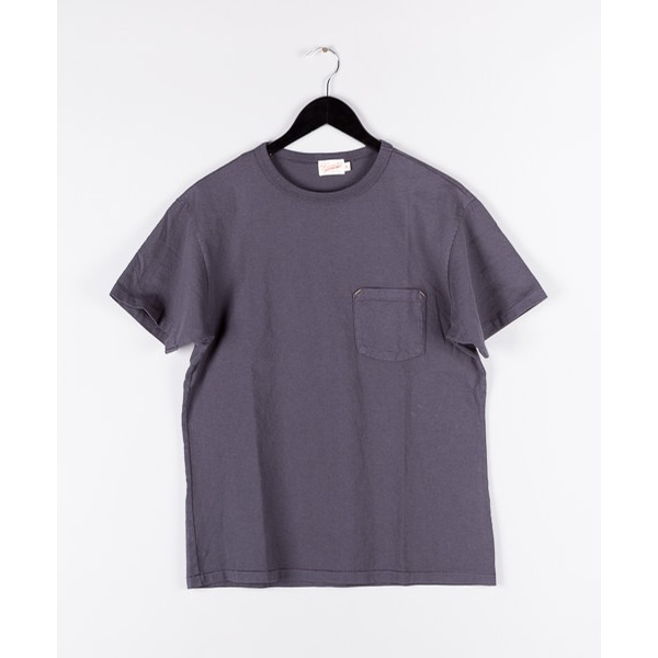 Freenote Cloth 6 oz Mid Jersey Pocket Tee: Black