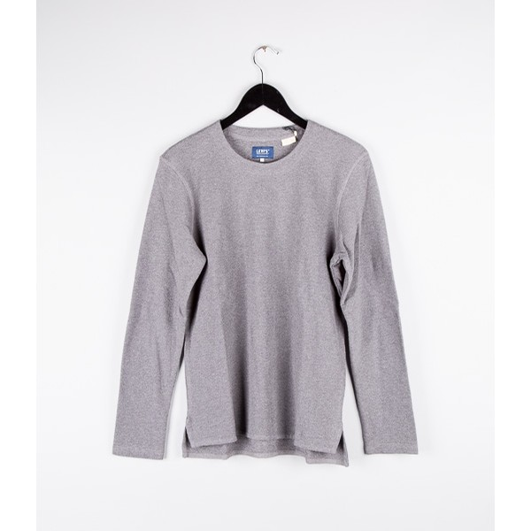 Made and Crafted L/S Tee: Dark Grey
