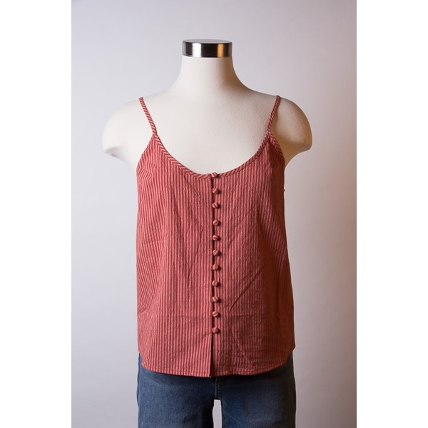 Knot Sisters Lydia Tank: Redrock Red