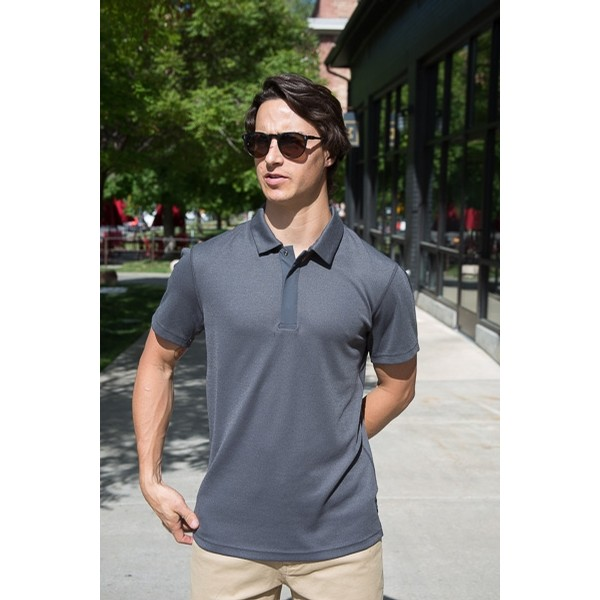 Power Dry Polo: Charcoal