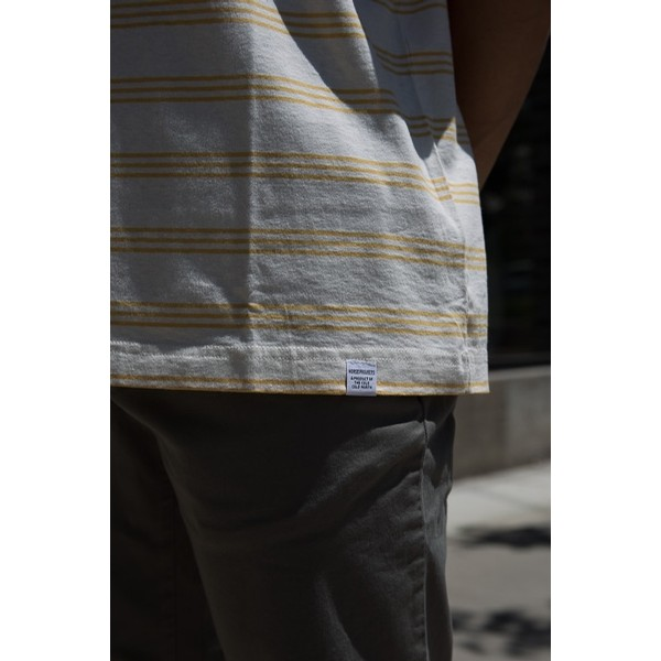 Johannes Cotton Linen Stripe: Sunrise Yellow