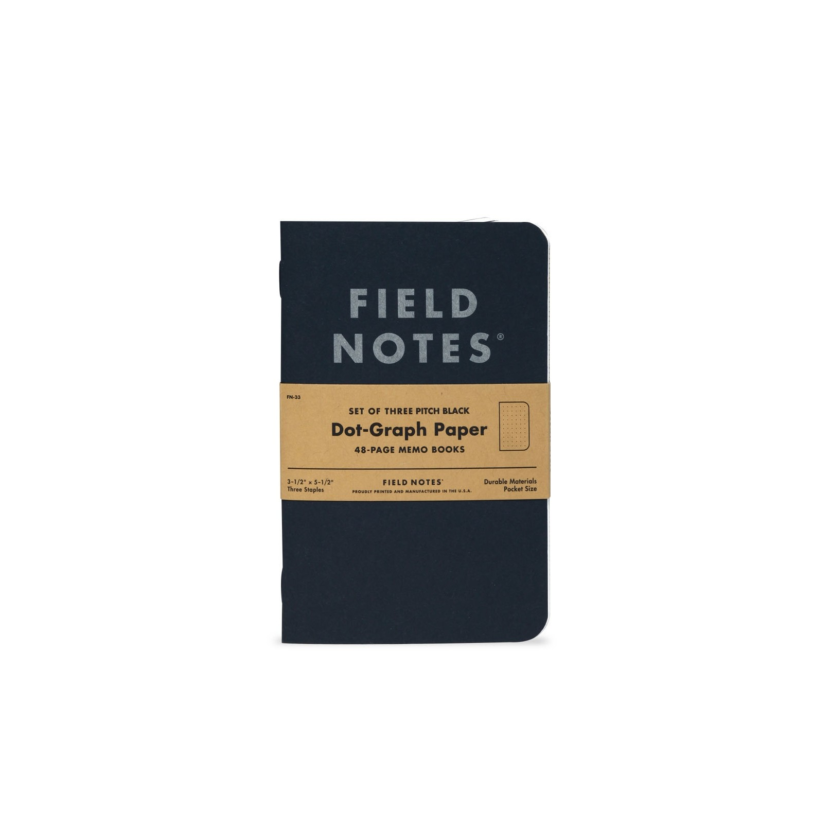 Field Notes Pitch Black: Dot Graph